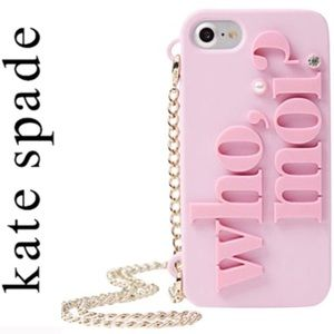 Kate Spade Pink Miss Piggy Who Moi Iphone 7/8Case